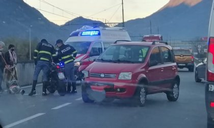 Incidente tra auto e moto sulla Statale 38, ferito centauro