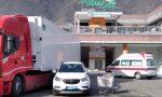 Incidente nel parcheggio del supermercato a Villa di Tirano