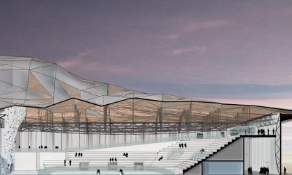 La Sondrio Arena prende forma nelle foto del progetto
