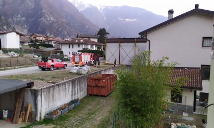 Incendio a Novate Mezzola