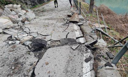 Le foto del disastro a Dascio: frazione isolata