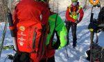 Scialpinista infortunato sull'alpe Motta