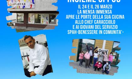 La mensa Immensa apre la sua cucina allo Chef Giovanni Caracciolo e ai giovani utenti del Servizio Spah
