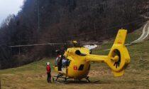 Ciclista infortunato ad Aprica, interviene l'elicottero