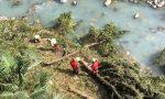 Il video dell'elicottero in azione in pieno centro a Chiavenna