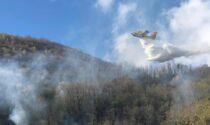 Incendio a Sorico, Vigili del Fuoco in azione