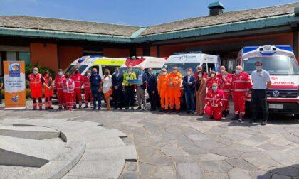 Donati da Cancro Primo Aiuto dispositivi di sanificazione per le ambulanze lombarde