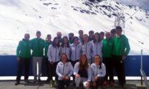 Primo allenamento sulla neve per la squadra Alpi Centrali