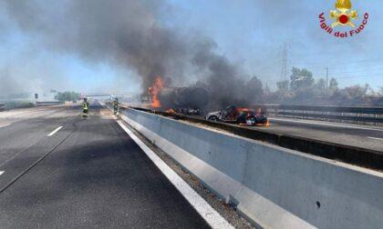 Camionista valtellinese muore nel rogo in autostrada
