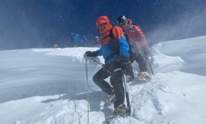 Il Cai Valfurva al monte Castore
