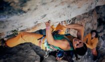 La forte scalatrice iraniana Nasim Eshqi a Sondrio