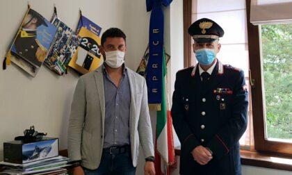 Aprica saluta il comandante dei Carabinieri e Magnani ricambia di cuore