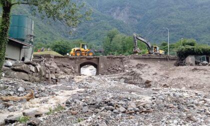 Frana a Chiavenna: si lavora per ripristinare la viabilità