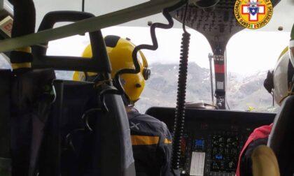 Malore sullo Scerscen, 24enne salvato dall'elicottero