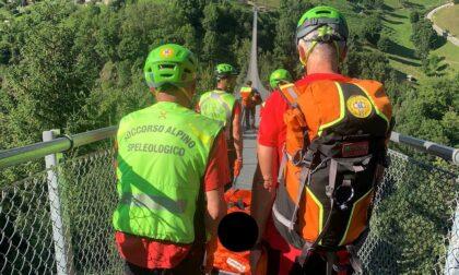 Bambina di dieci anni soccorsa vicino al Ponte del cielo