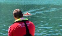 Drone per il salvataggio in acqua testato a Piona