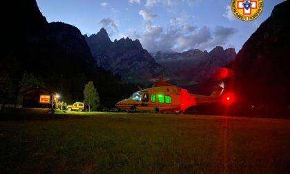 Alpinista ferito a 3000 metri, recuperato in serata con l'elicottero