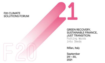 F20 e Cariplo insieme per il Climate Solutions Forum