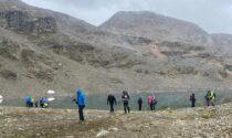 Il Cai Valfurva sui pendii della Val Nera a Livigno