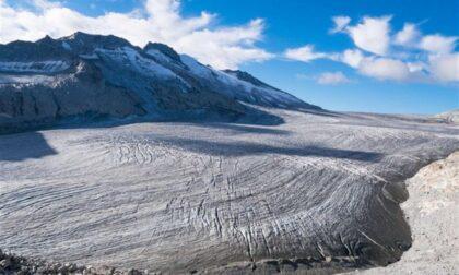 Il ghiacciaio dell'Adamello sempre più in difficoltà