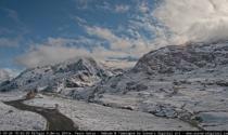 La prima neve sul passo Gavia ripresa in un timelapse