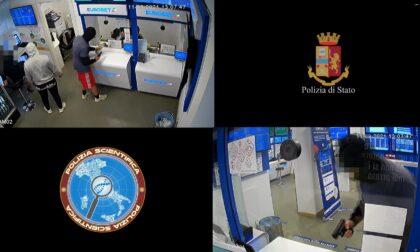 Pistola giocattolo e teaser per la rapina nella sala scommesse: il video che incastra i colpevoli