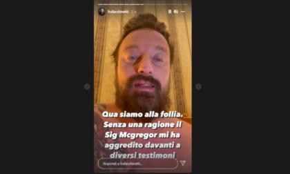 """Francesco Facchinetti aggredito da Conor McGregor: """"Mi ha spaccato un labbro e il naso"""""""